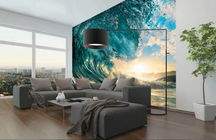 фотообои с рисунком волны