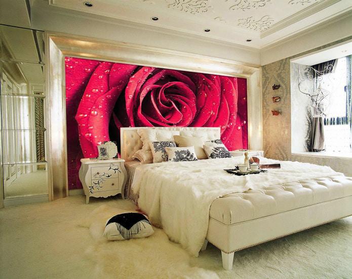 Зд фотообои с розой