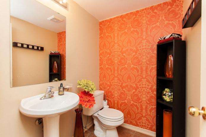 Светло-оранжевые обои