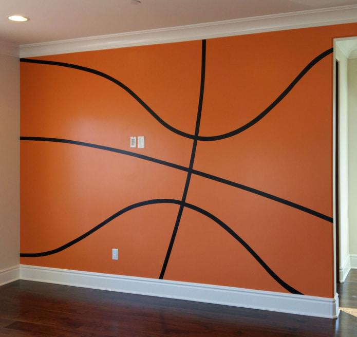 оранжево-черные обои