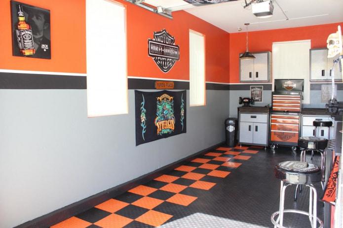 оранжево-серые обои