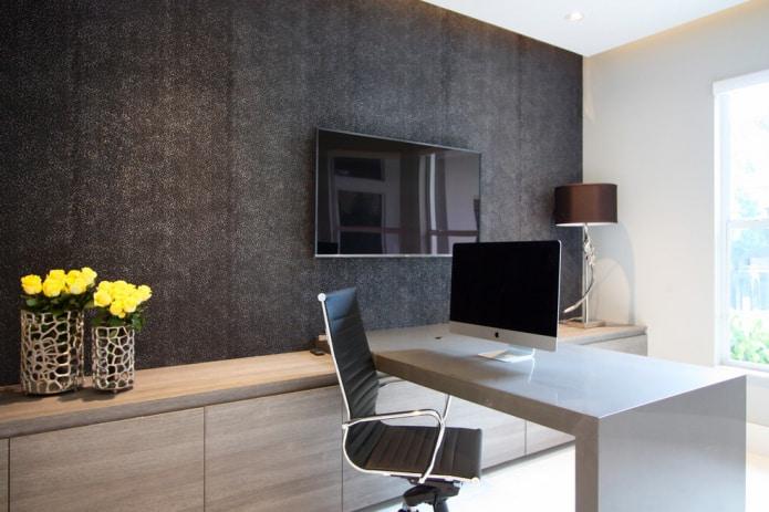 кабинет в стиле минимализм
