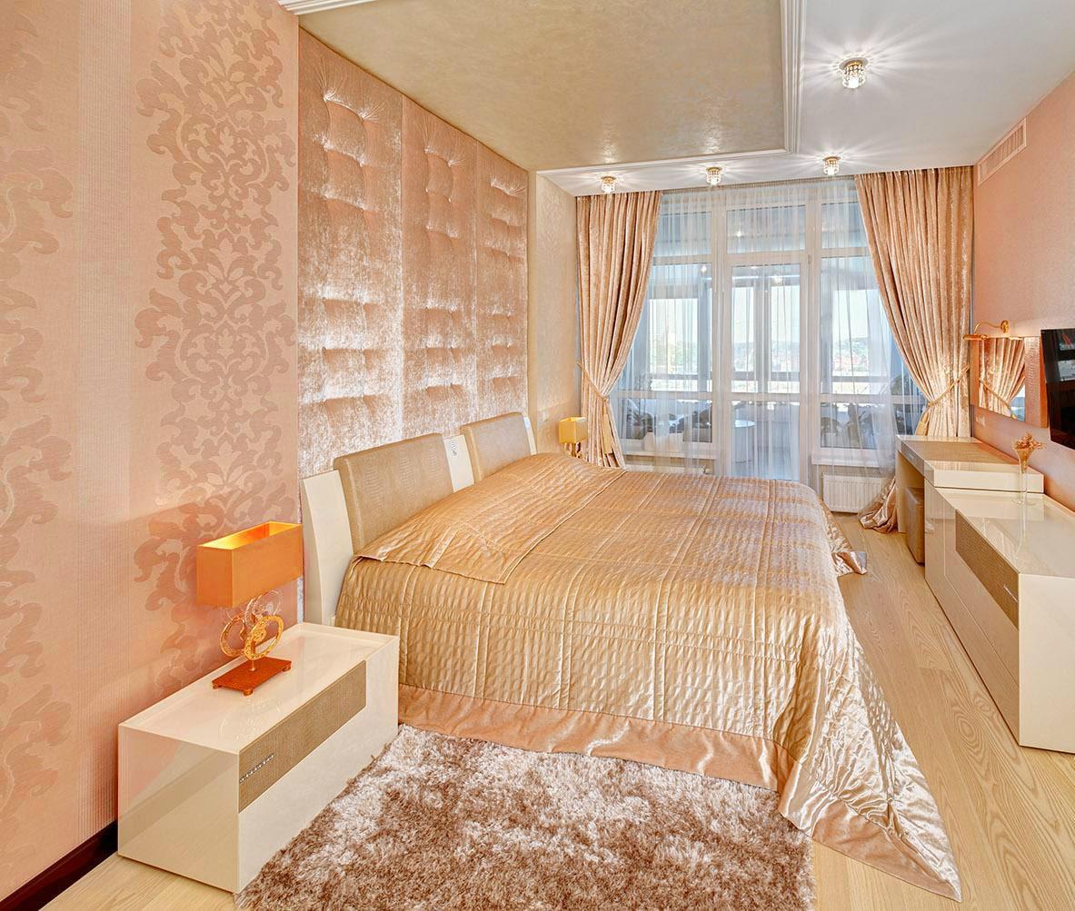 внимание спальня в персиковых тонах фото фотографии