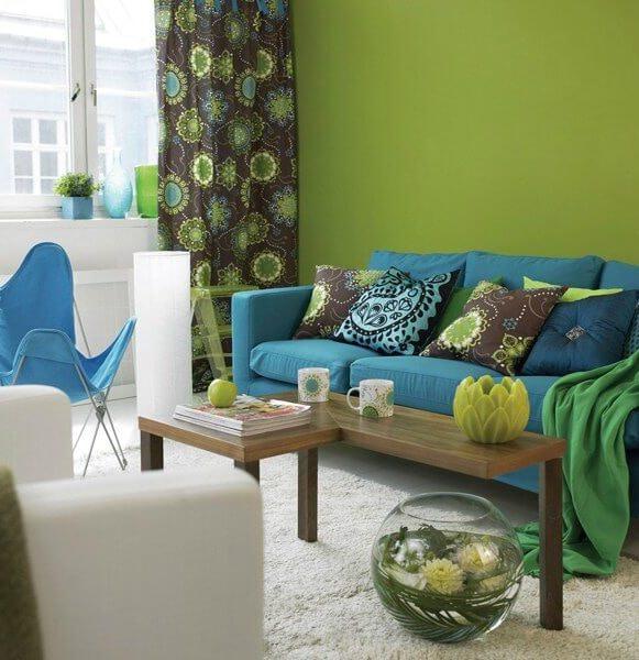 сочетание обоев с мебелью