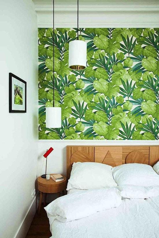 салатовые стены в спальне