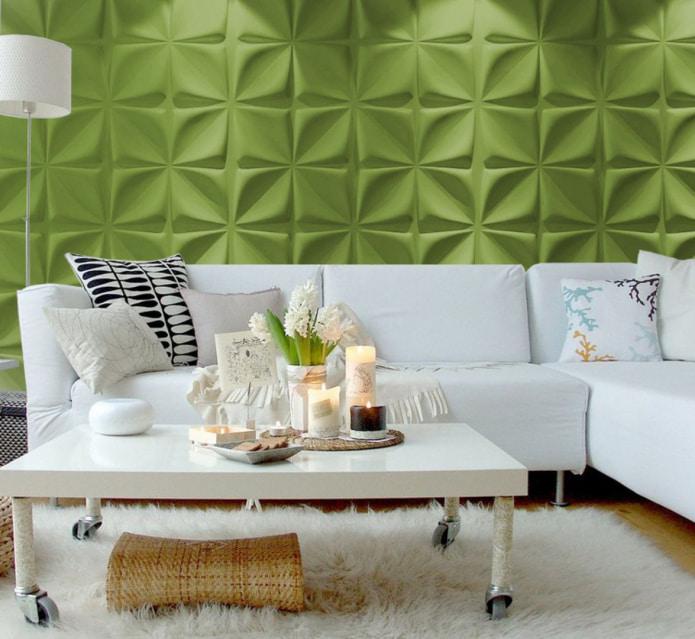 салатовые стены в гостиной