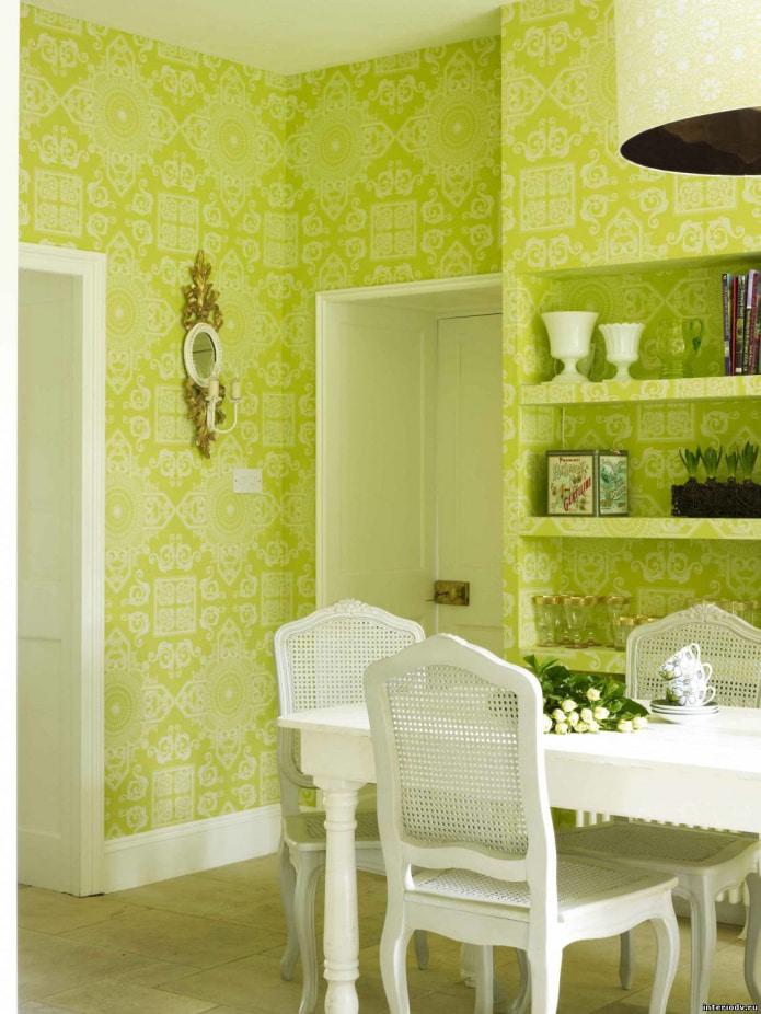стены в салатовом цвете