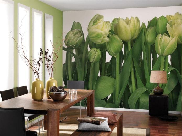 фотообои с изображением тюльпанов