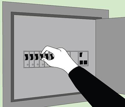 выключить электричество