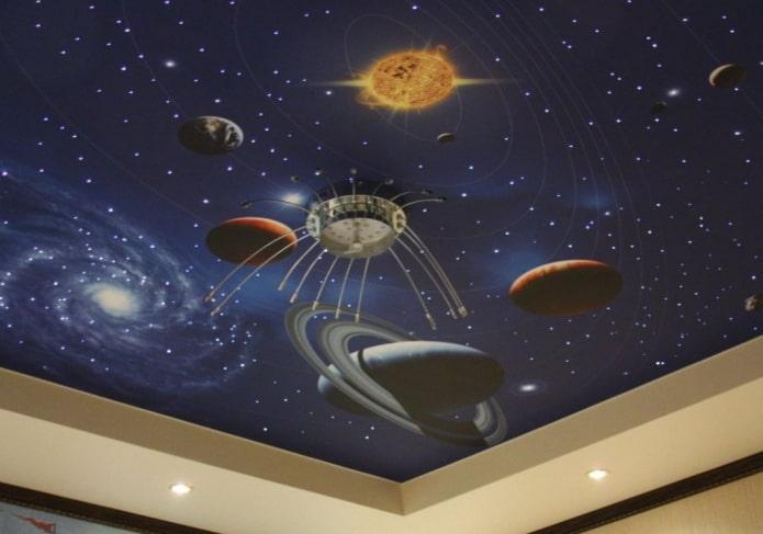потолочные обои с изображением космоса