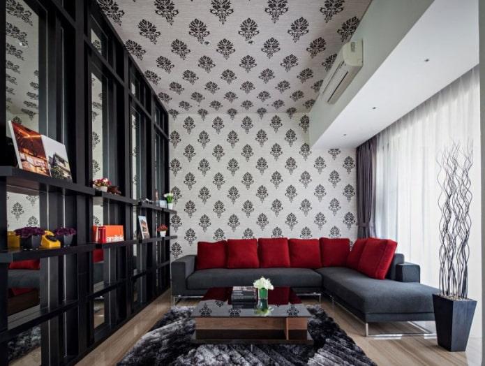 текстильные потолочные обои