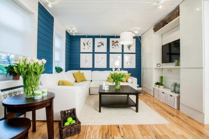 уютная гостиная в стиле кантри