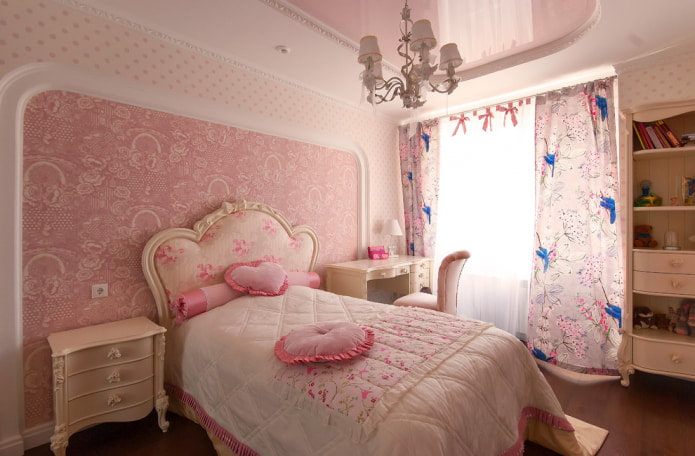 Розовые стены