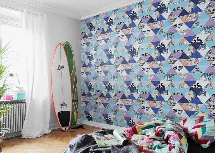 детская комната с досками для серфинга