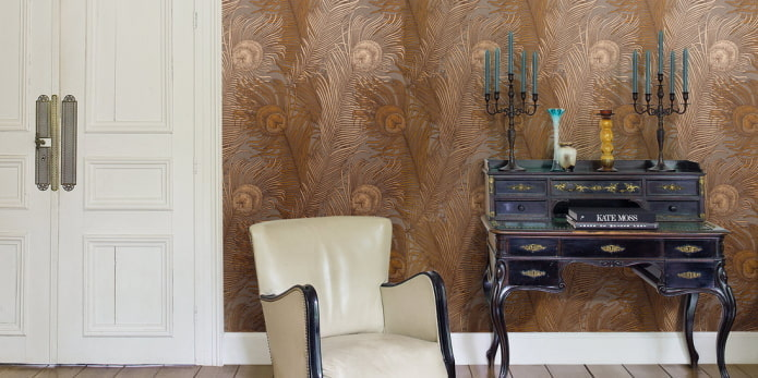 Флизелиновые обои для стен: 50 фото в интерьере, современные идеи дизайна