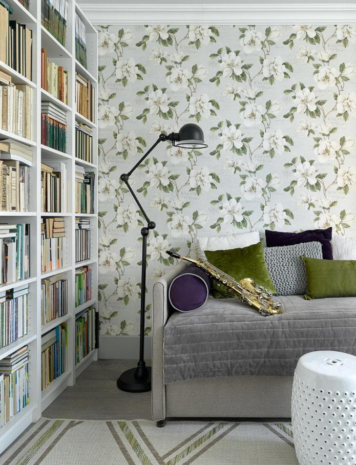 Бумажные обои для стен: 60 фото, лучшие идеи дизайна