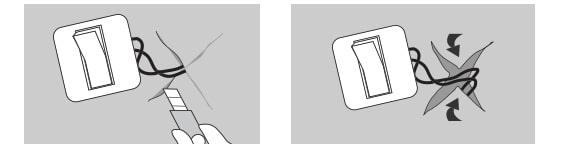 схема проклеивания обоев вокруг розеток и выключателей