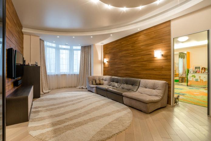 Бежево-коричневый диван