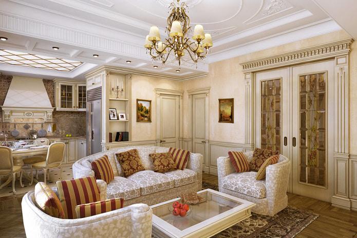 диван с вензелями