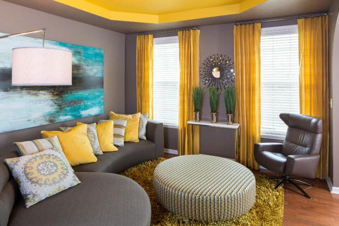 текстиль в желтых тонах