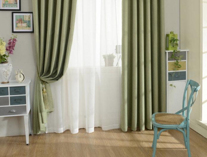 хлопковые шторы с текстурой рогожки