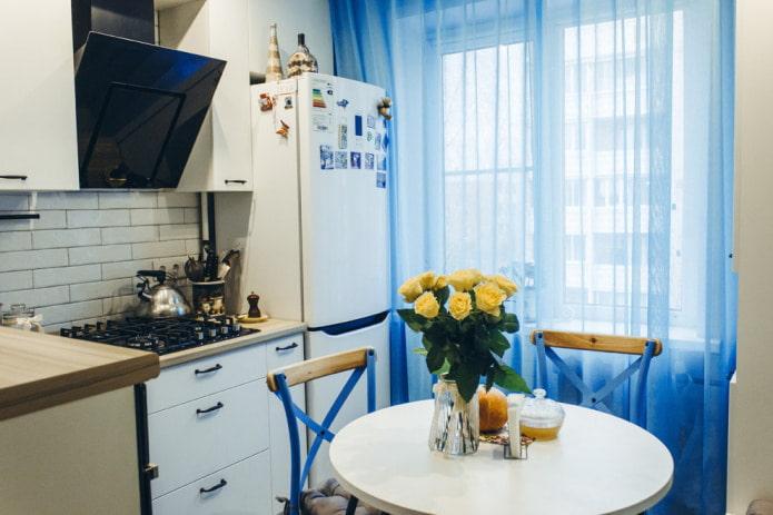 органза на кухне