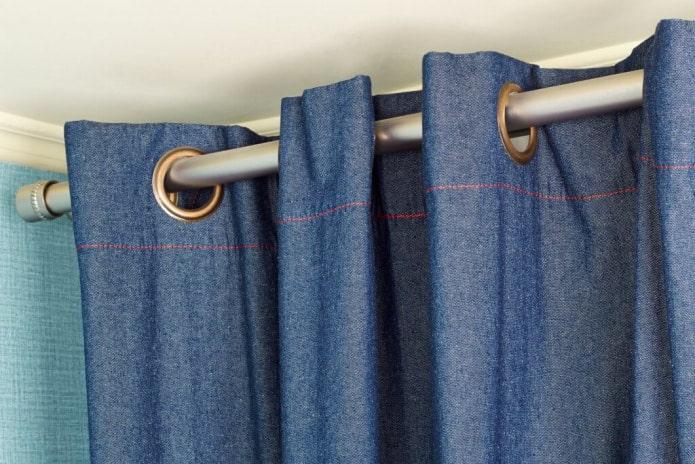 джинсовые шторы