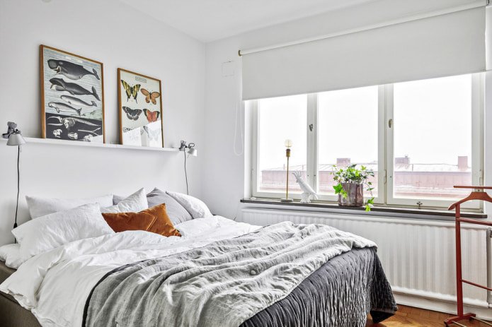 ролл-шторы в спальне
