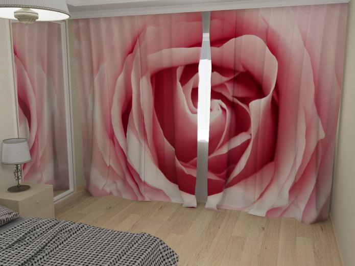 фотошторы с розой