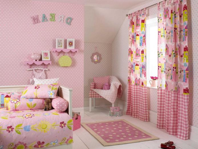 шторы на петлях в детской