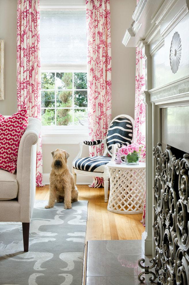 шторы с цветочным принтом