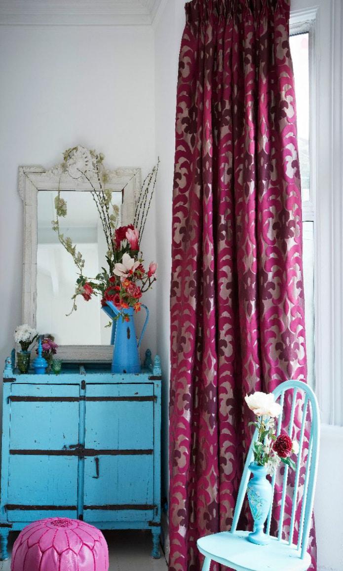 шторы цвета фуксия