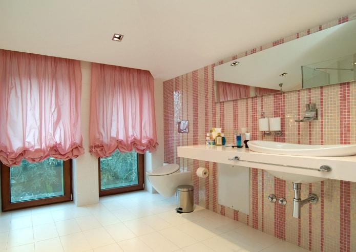 органза в ванной комнате