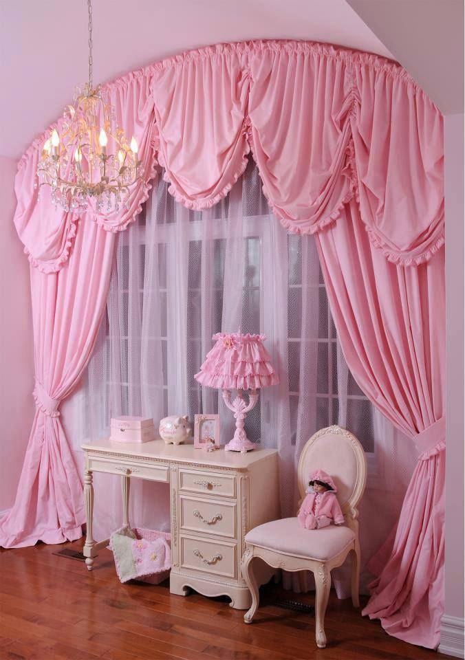 розовые портьеры
