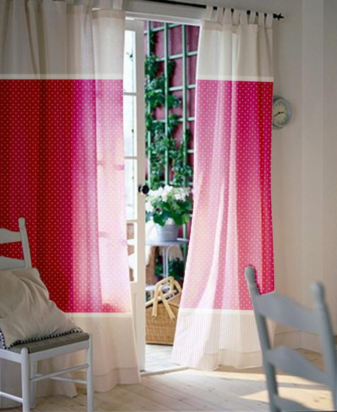 шторы с гороховым принтом
