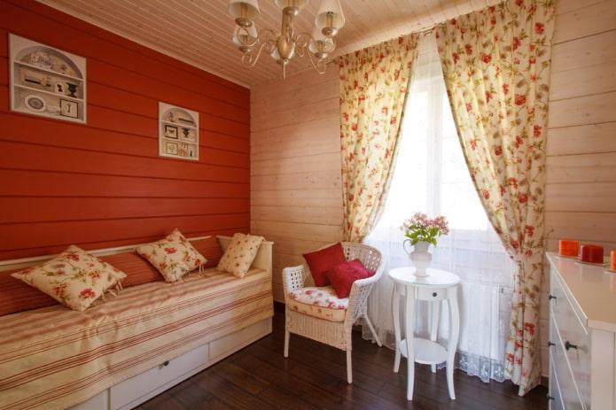 спальня в прованском стиле в интерьере дома