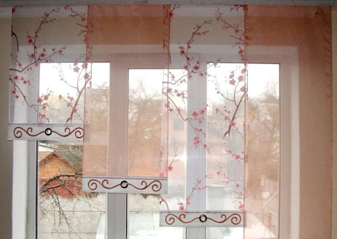 80 фото японских штор в интерьере – материал, рисунки и цвета шторных панелей