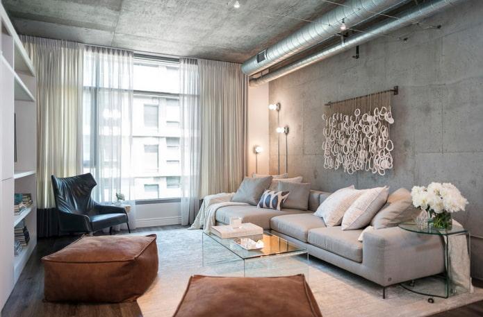 сочетание штор с мебелью в интерьере