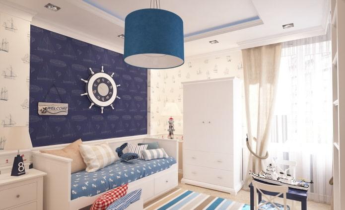 шторы с прихватами в морсом стиле