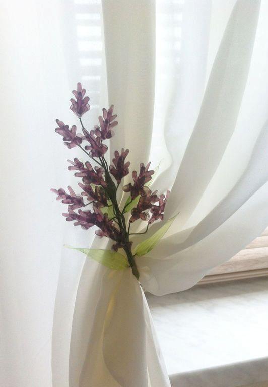 фиолетовый подхват для штор