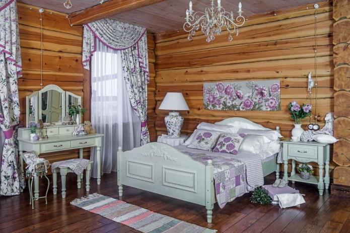 ламбрекен джабот в спальне