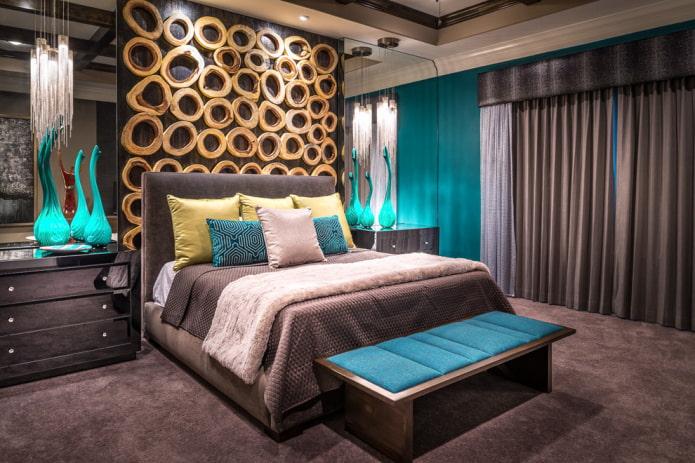 ламбрекен бандо в интерьере спальни