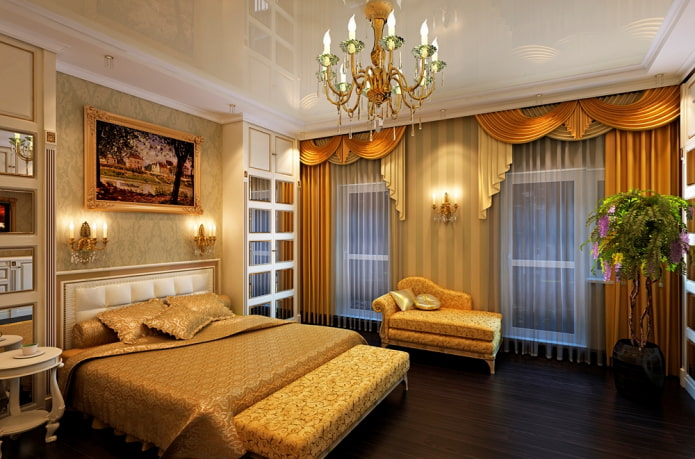 ламбрекен каскад в спальне