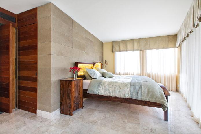 ламбрекены в спальне в современном стиле
