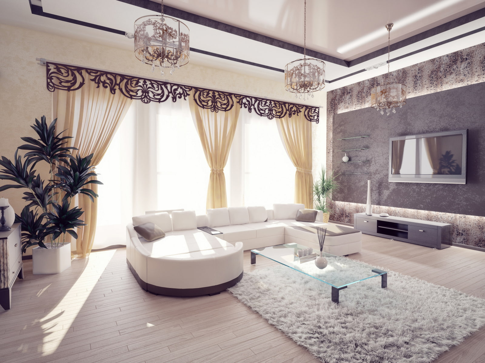 красивые шикарный ремонт в квартире фото многие