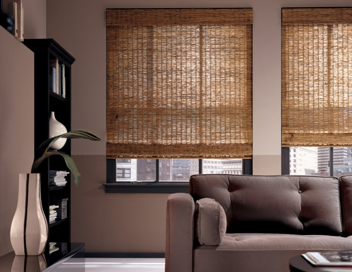 бамбуковые плетеные шторы
