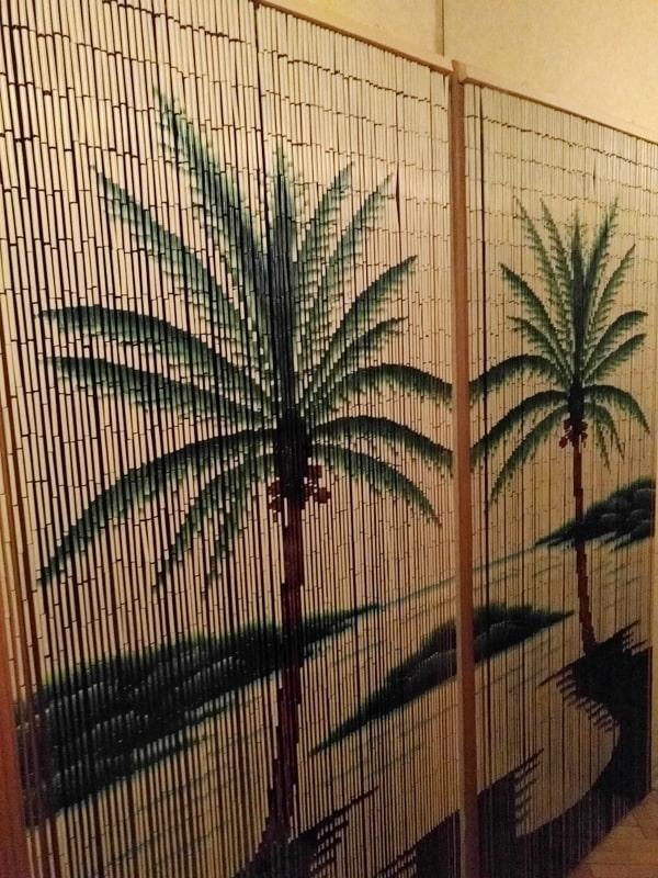 бамбуковые занавеси с пальмами