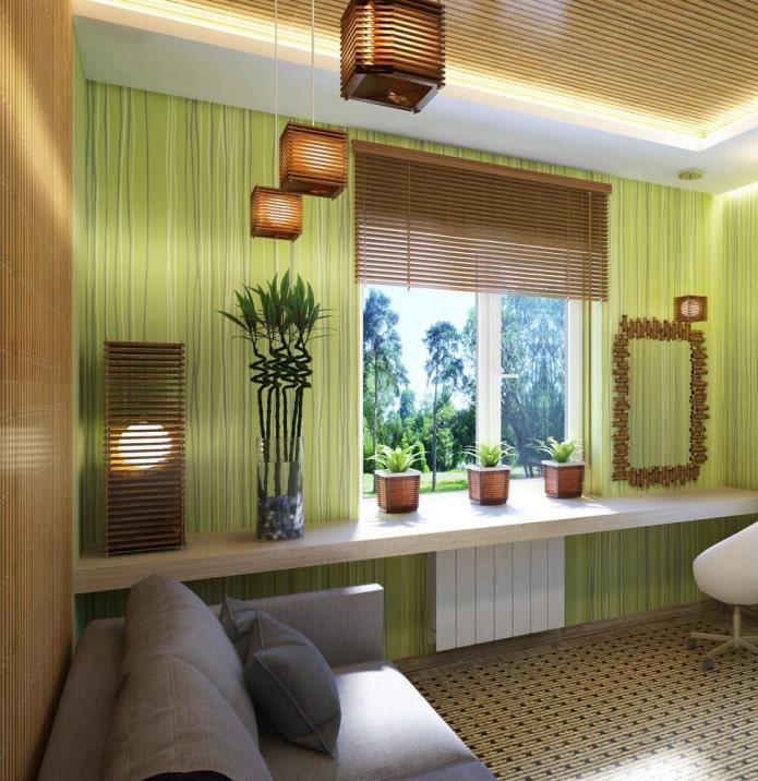 жалюзи из бамбука в эко-стиле