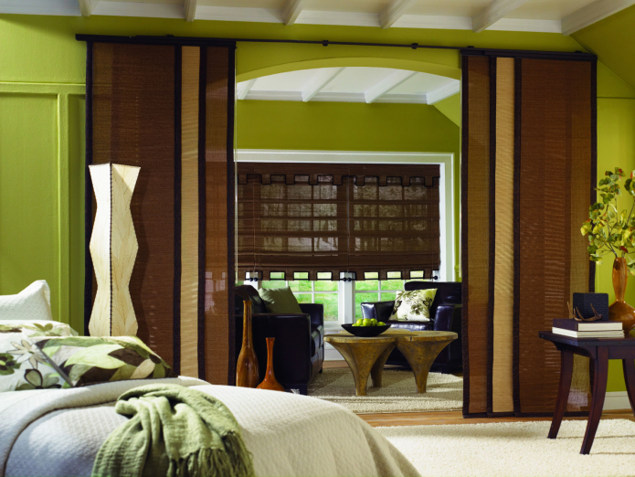 Бамбуковые шторы в интерьер: 73 фото и инструкция как повесить на окна или дверной проем
