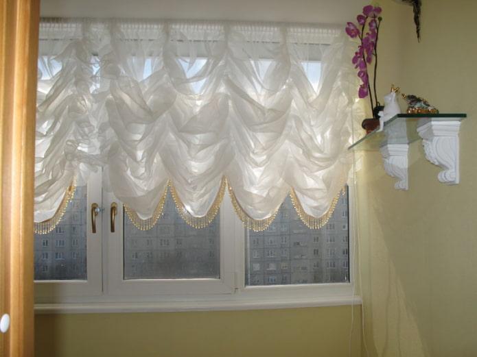 Французские шторы: 70 фото в интерьере, избранные идеи оформления окна